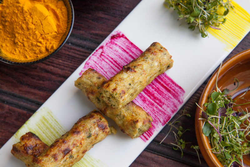 Rosted Fenugreek & Edam Kebab (credit: Mint Leaf)