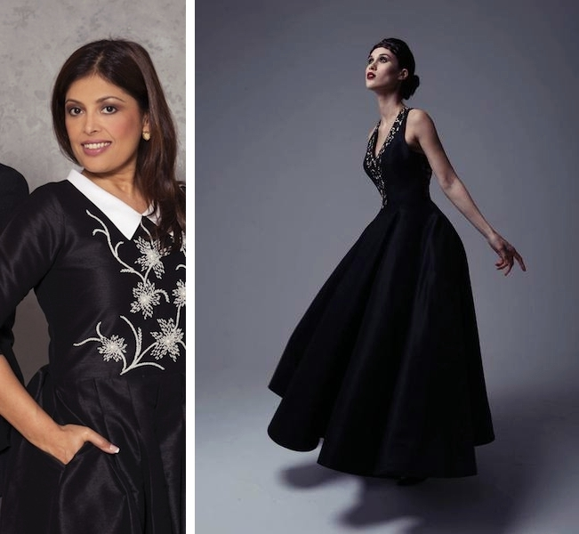Designer Kanchan Kulkarni and one of her stunning pieces (photo credit: Love From Kara)