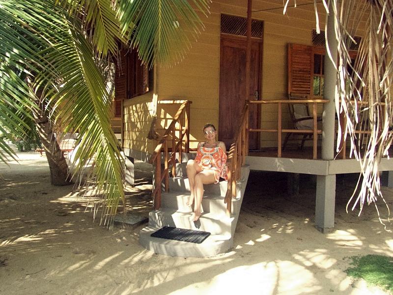 Pra chilling on her cabana steps