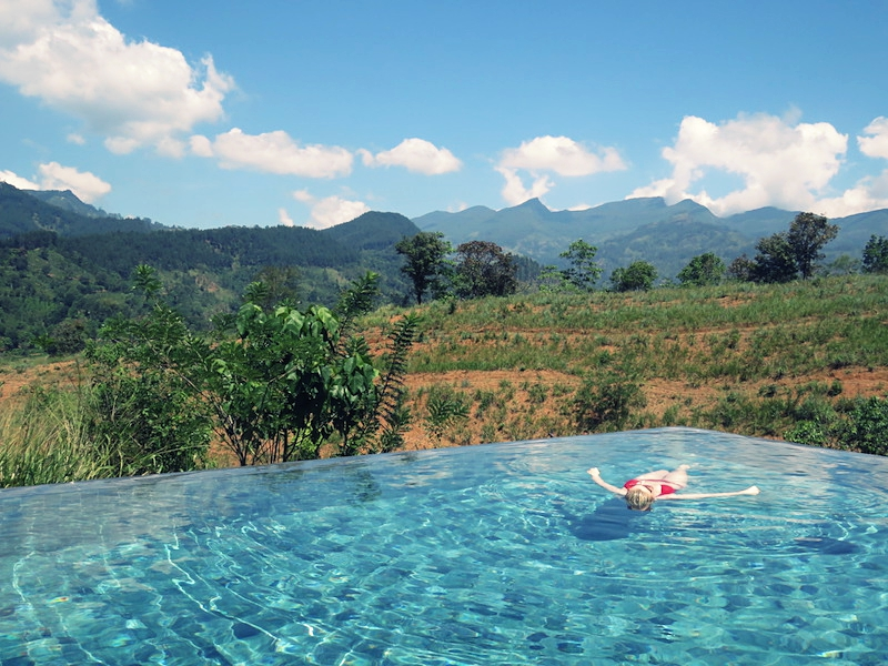 Soak up the sunshine in this gorgeous infinity pool surrounded by greenery
