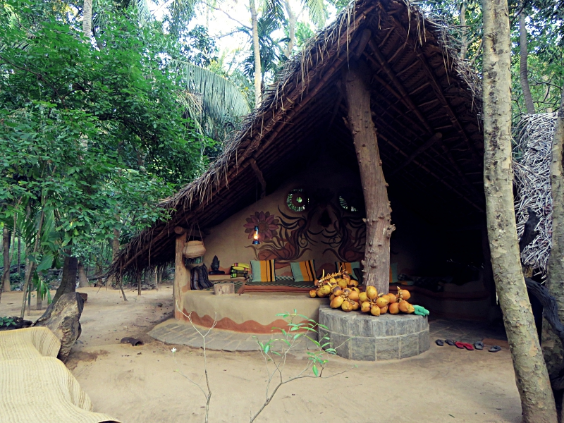 Look for Karuna to chop up a fresh coconut for you for breakfast!