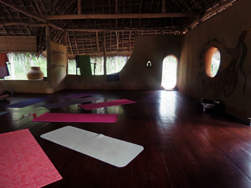 This is where you'll do some of the most intense yoga ever