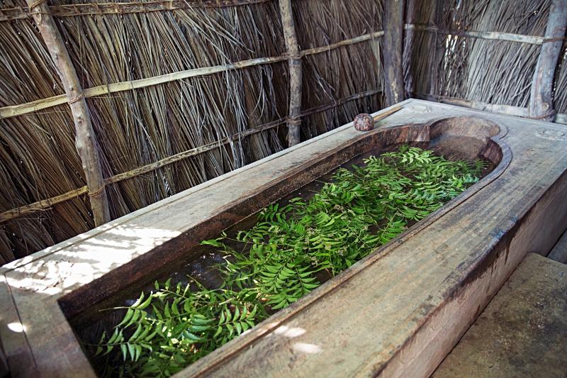 The Ayurveda herbal bath – imagine getting in a good soak here! (credit: Ulpotha)
