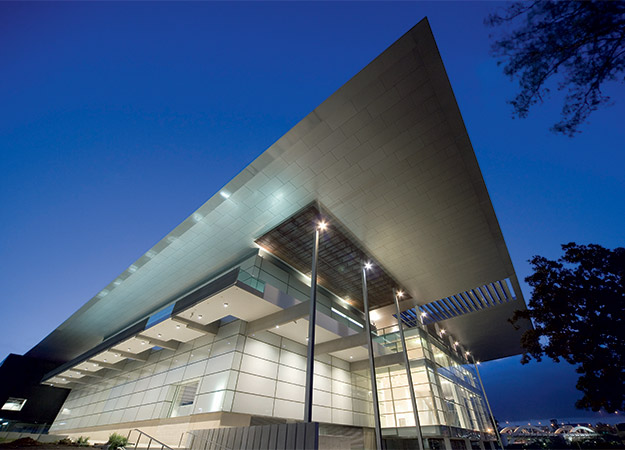 The exterior of the 'GOMA' (Gallery of Modern Art) part of QAGOMA. (photo from QAGOMA website)