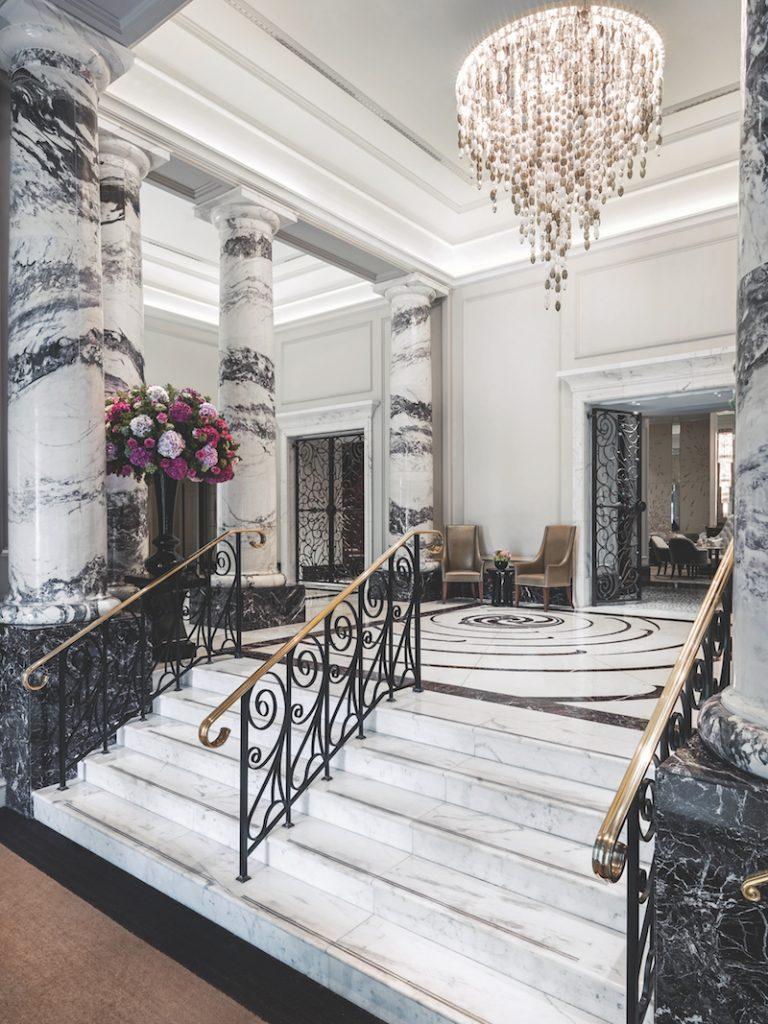The stunning marble lobby (photo: The Langham London)