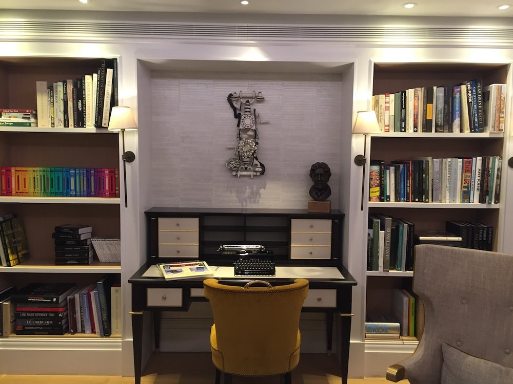 The chicly designed Writer's Corner