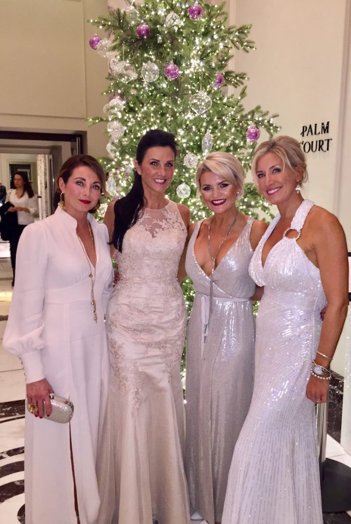 A glam photoshoot in the lobby, just before heading out to the Teens Unite Fighting Cancer Advent Tale winter gala