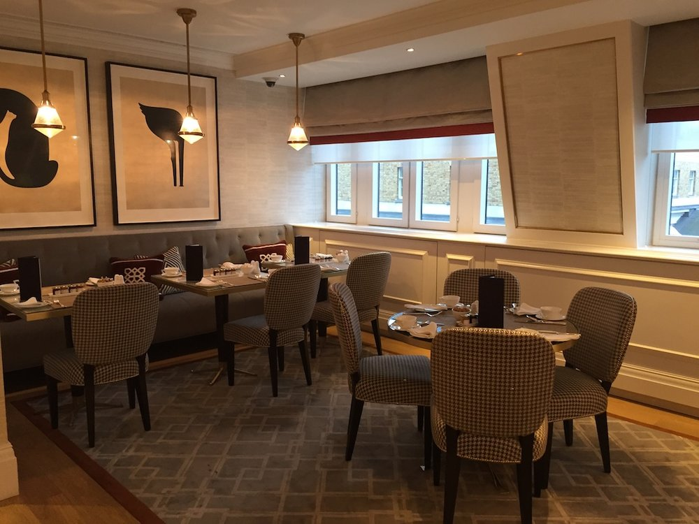 The Club Lounge where guests can enjoy breakfast