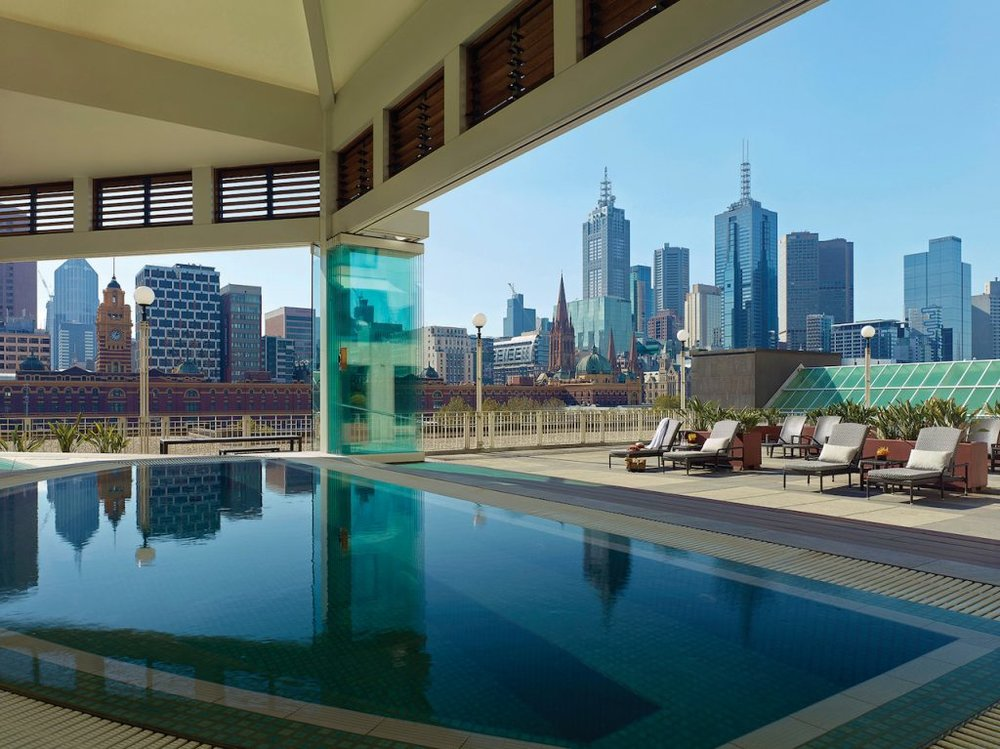 We wouldn't say no to a soak in this jacuzzi! (photo credit: Langham Melbourne)