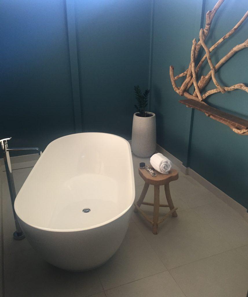 The super calming bathroom within the villa
