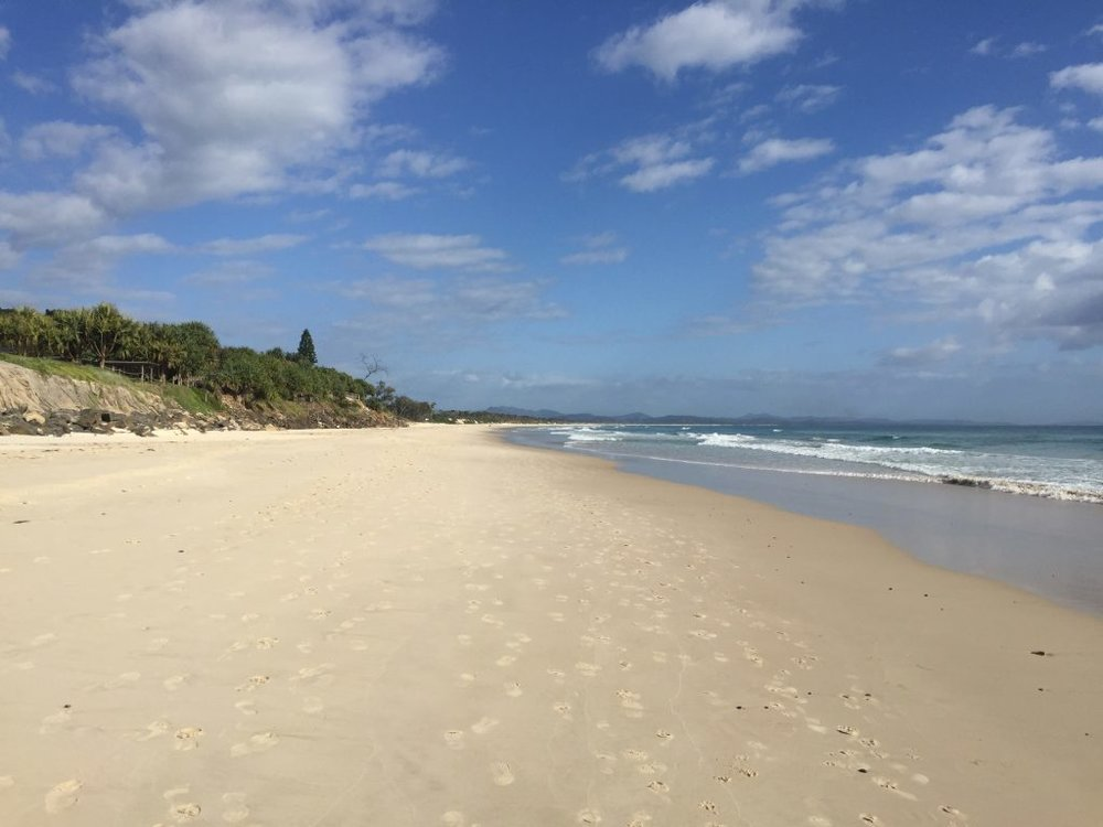 Belongil Beach is literally just steps away from Shambhala