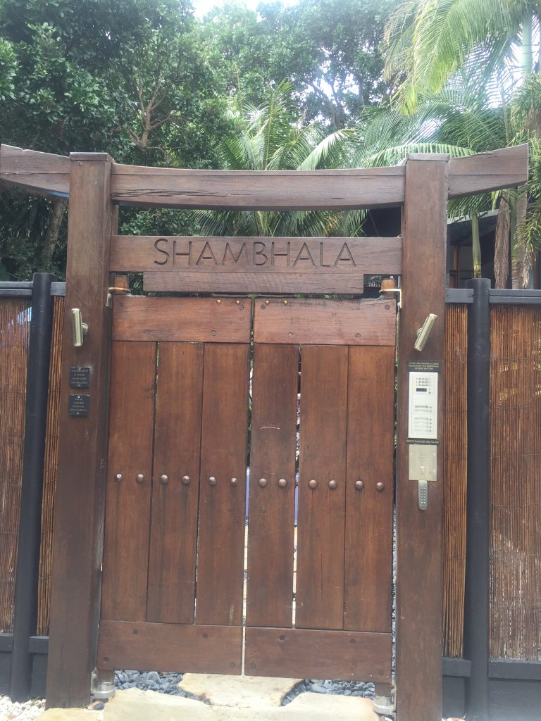 The carved doors leading into Shambhala