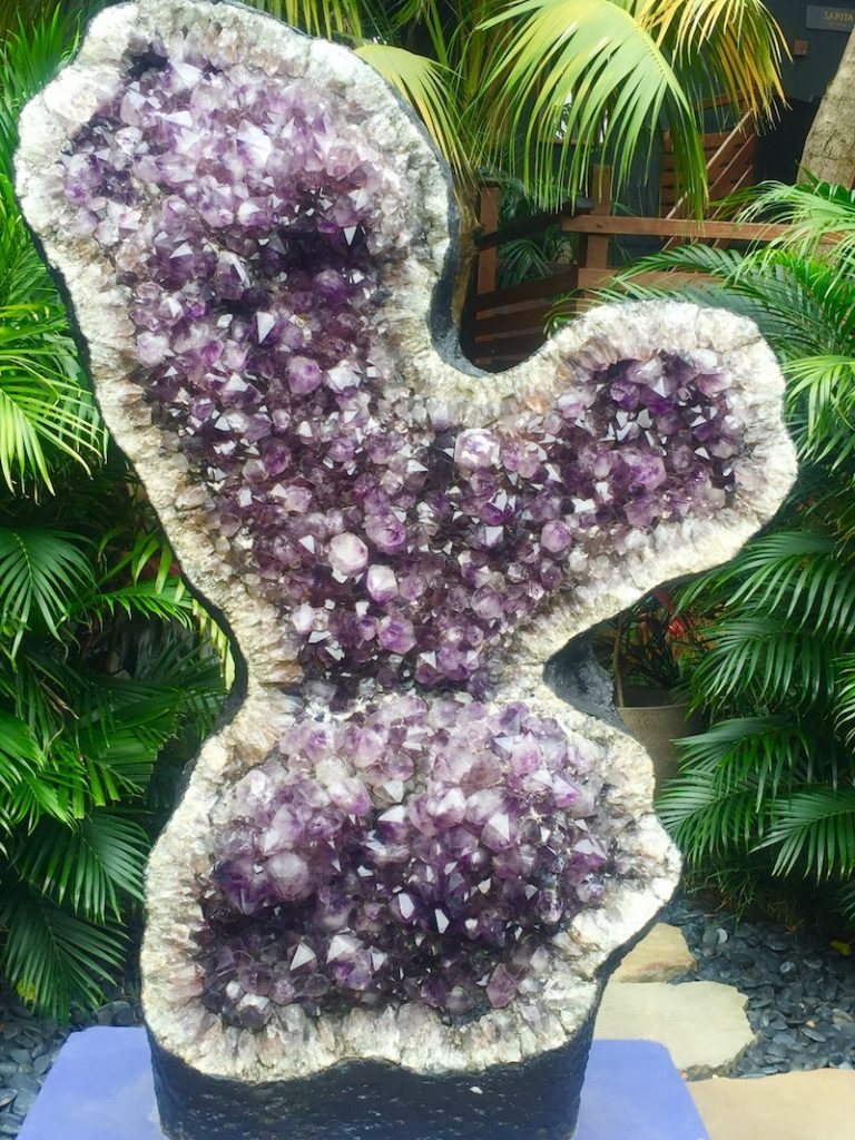 The huge amethyst that greets you upon entering Shambhala