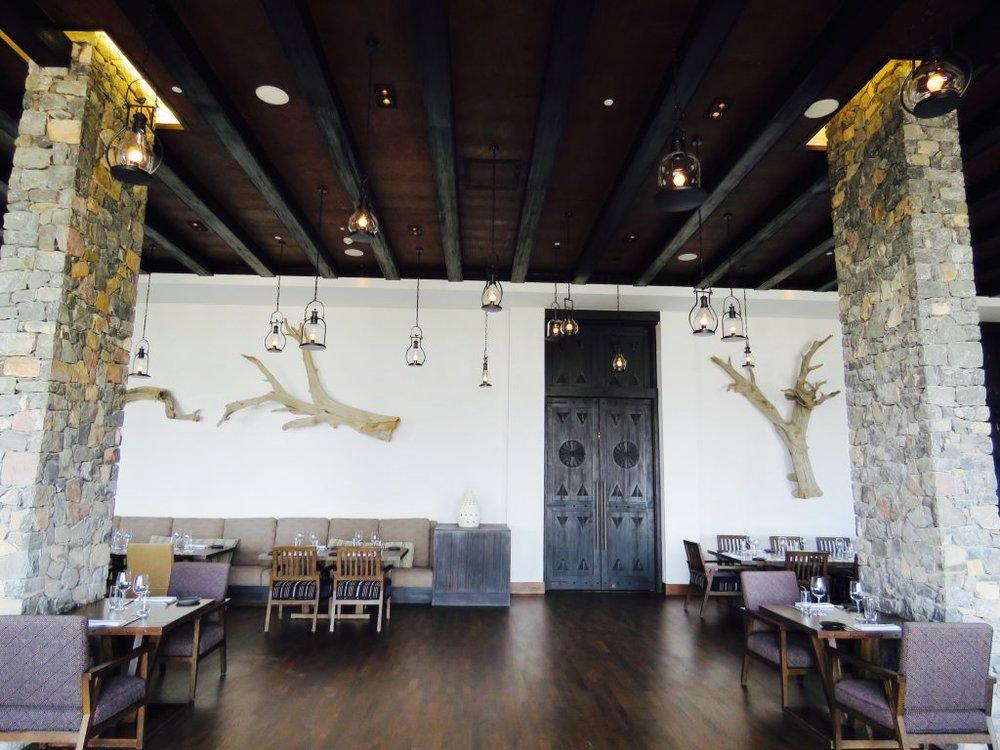 The spacious Juniper Restaurant