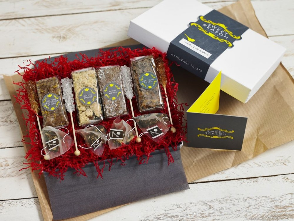 You could win this Bespoke Brownie & Tea Gift Box!