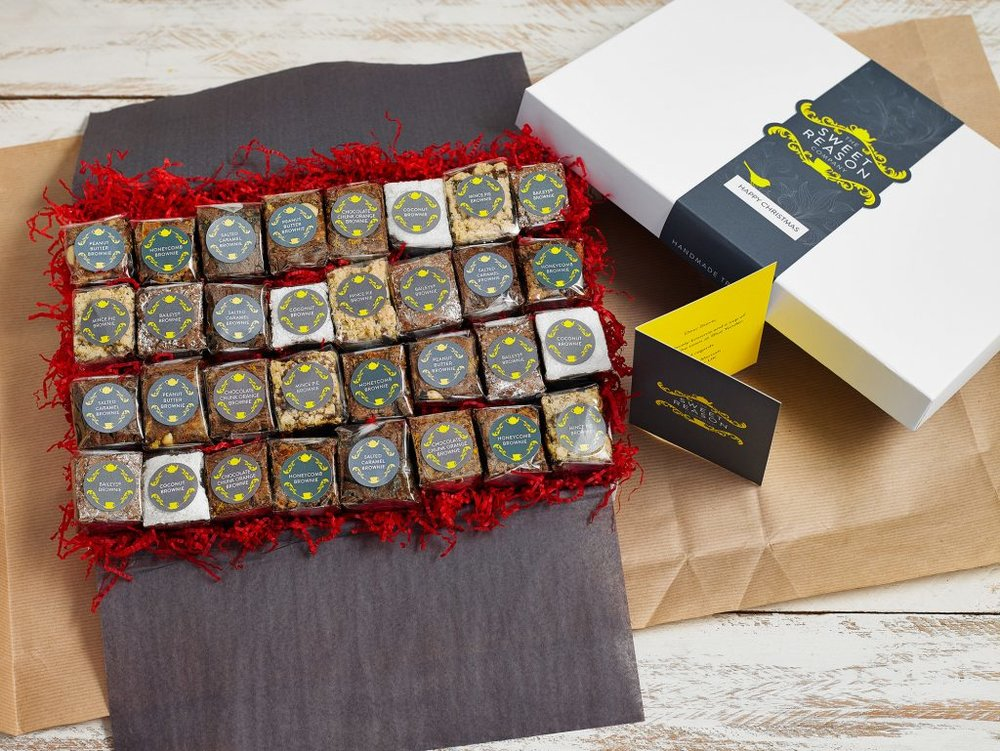 The Christmas Brownie Bites Gift Box (32 Bites)