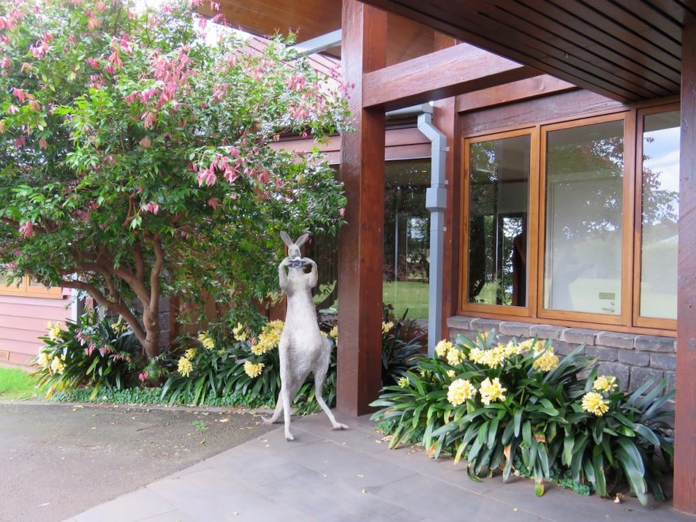Skippie is always ready to welcome you to the lodge