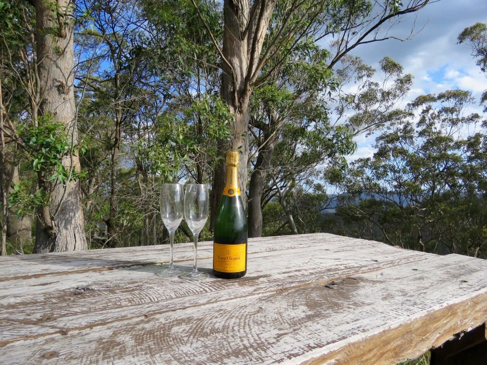 Bubbles and nature – what more could a gal ask for?