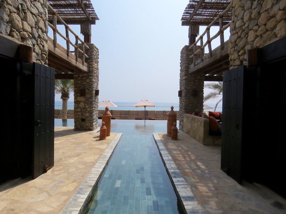 Taking a peek at one of the private retreats at Six Senses
