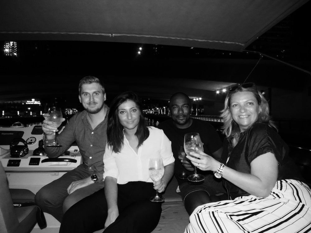 Matthew Cunliffe from Globaleye, Eleonora Caso from Cuvee3, Al Gounder, Charlotte Turner