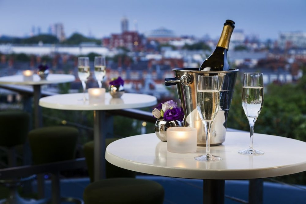 Champagne views at Babylon