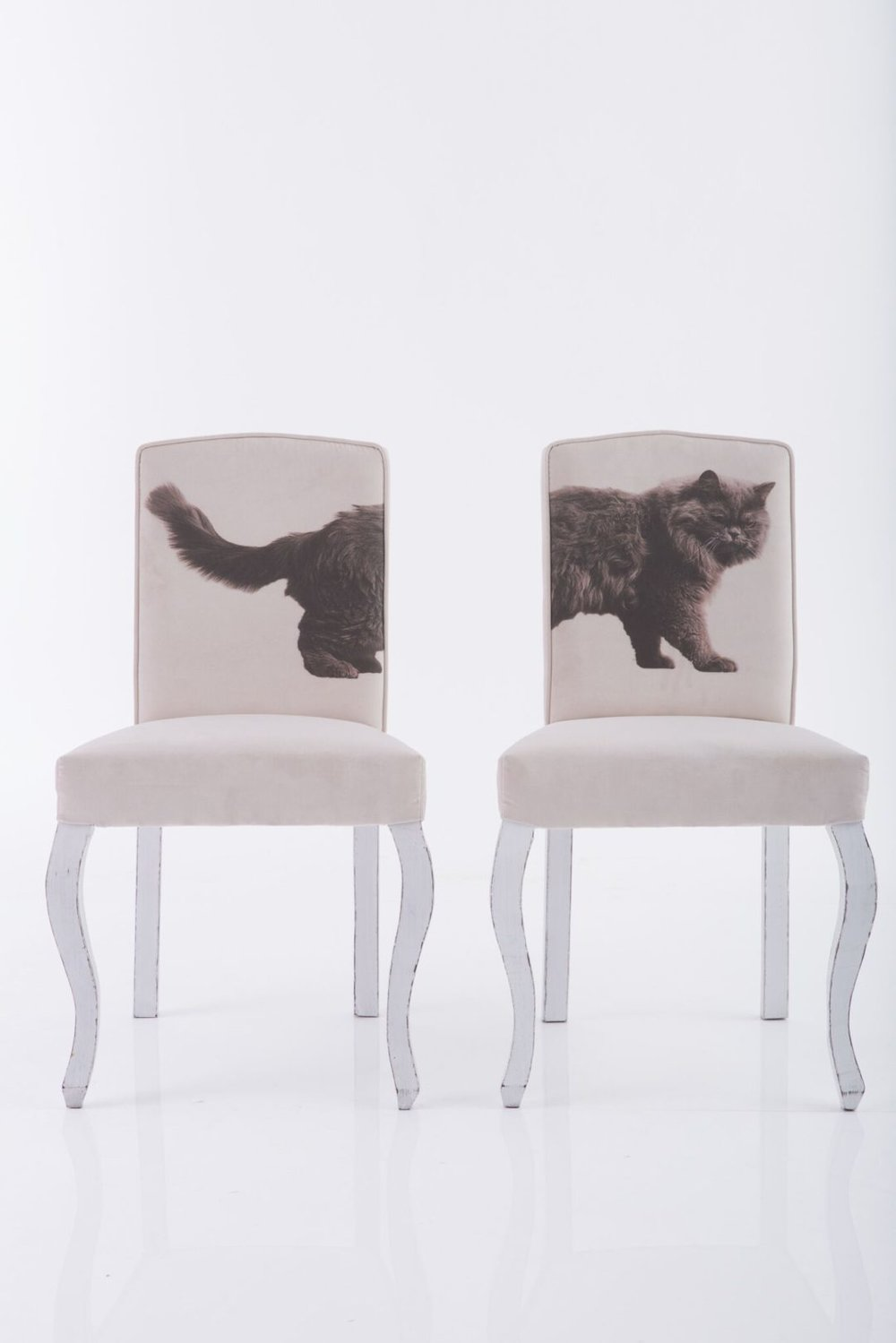 The cat diptych chairs I fell so madly in love with!