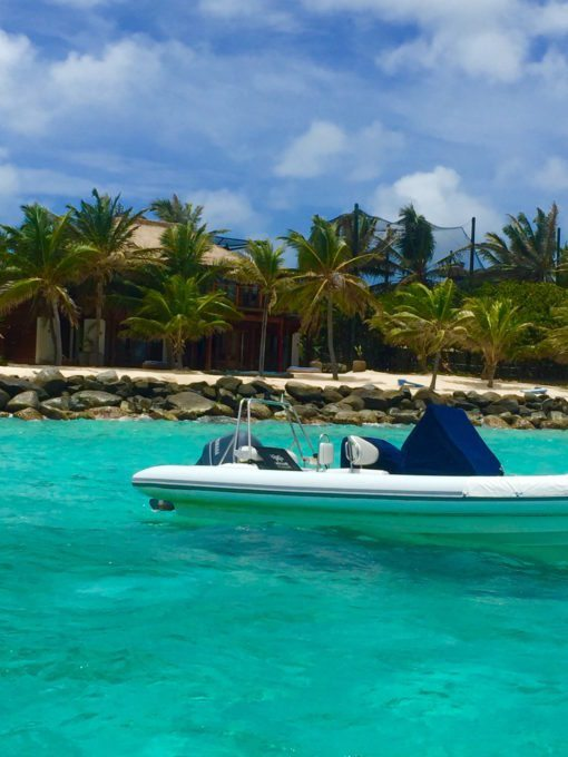 This speedboat was just one of the ways to get around the island