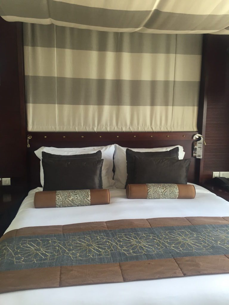 The comfy bed in my suite