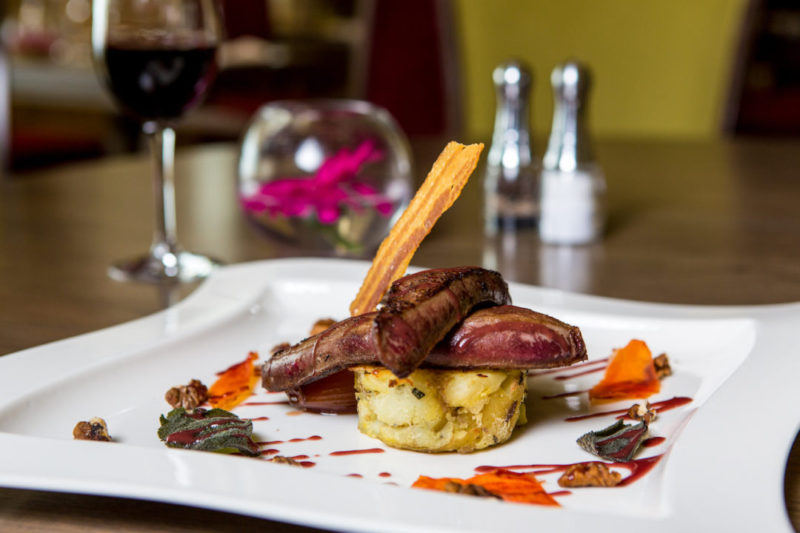 One of the delicious dishes you'll find at Squires. (Photo credit: Bedford Lodge)