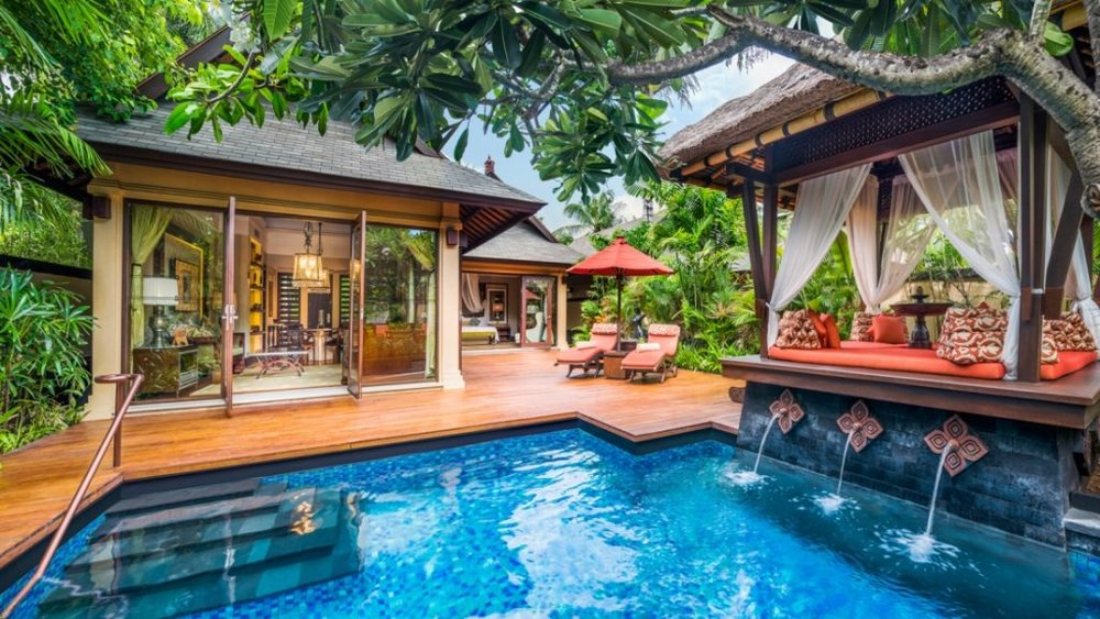 The Gardenia Villa comes with a private pool! (Photo courtesy of St. Regis Bali)