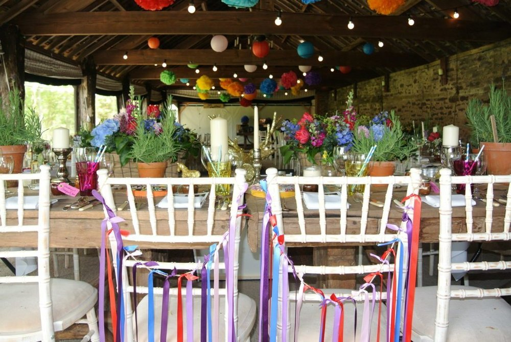 The set up for a fun and fab wedding