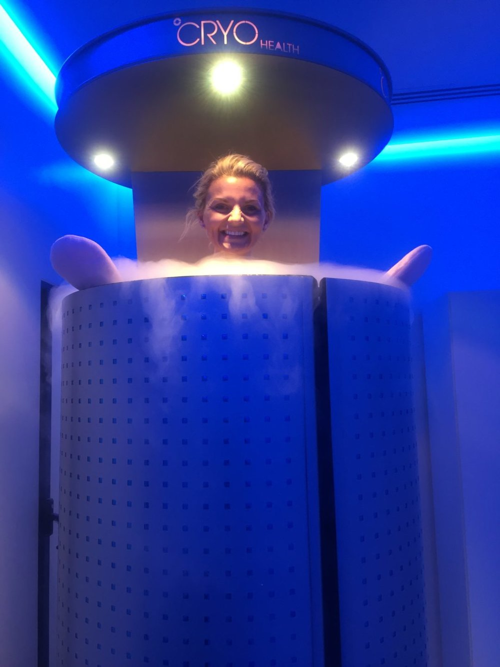 Kitted out in the CRYO chamber