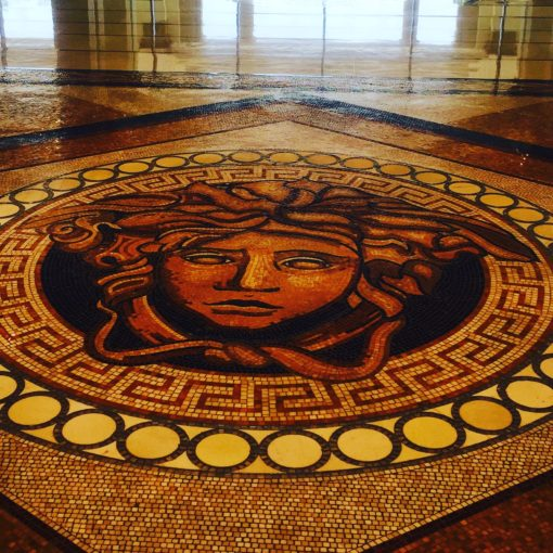 The floor mosaic made up of 1.5 million pieces