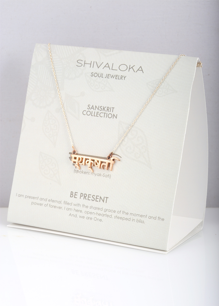 Shivaloka - Be Present necklace