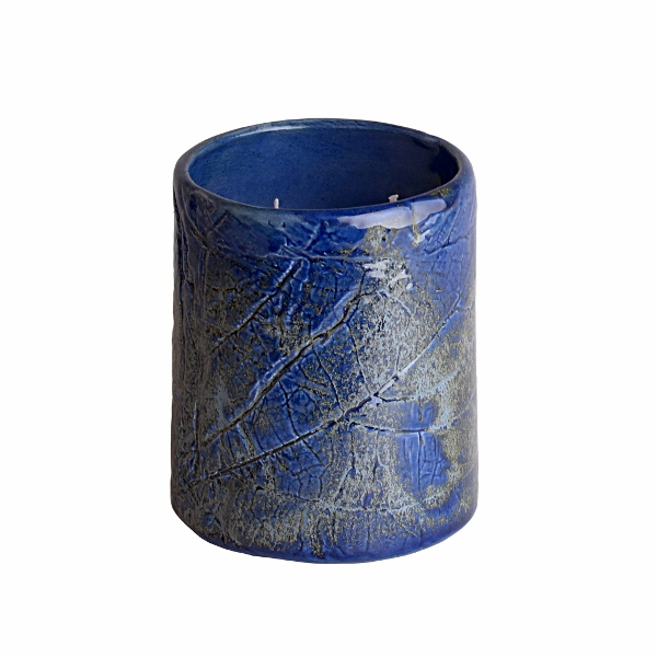 Bed Bath Body - Blue Ceramic Candle