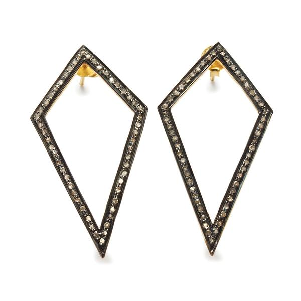 Diamond Kite Earrings: Black rhodium and gold plated silver with single cut diamonds  We've become big fans of Black Betty, another South African brand. They have a wide range of sparkly pieces to suit every budget and style. You can deck yourself out with everything from simple stacking rings to geometric statement earrings and a diamond snake bangle.   Visit Black Betty