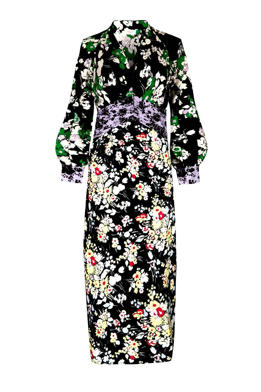 RIXO - Fedora Floral Wrap Dress