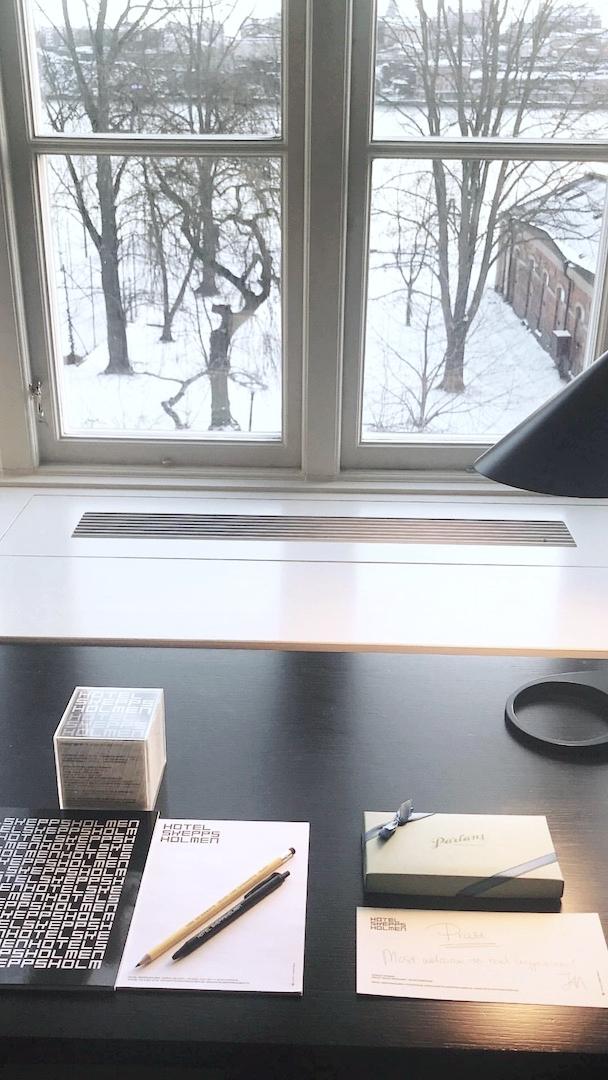 Wintry desk views