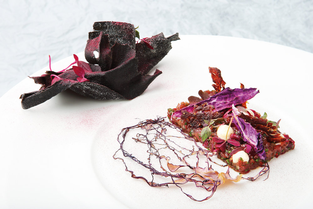 Ostrich, Red Cabbage, Sorrel