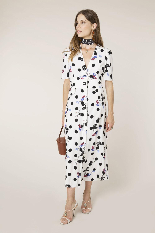 RIXO - Bunched Daisy Jackson Maxi Dress