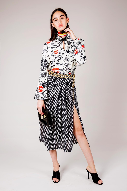 RIXO - Mini Star Georgia Skirt
