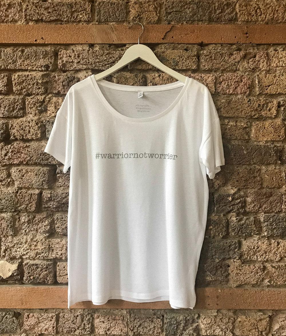 Yoguh - #warriornotworrier T-shirt