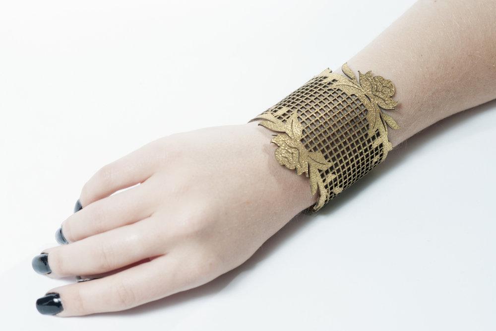 Genoveva Christoff - Leather Laser Cut Emma Bracelet
