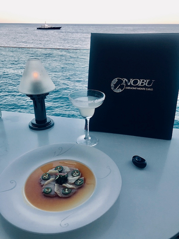 Dining with a view at Nobu