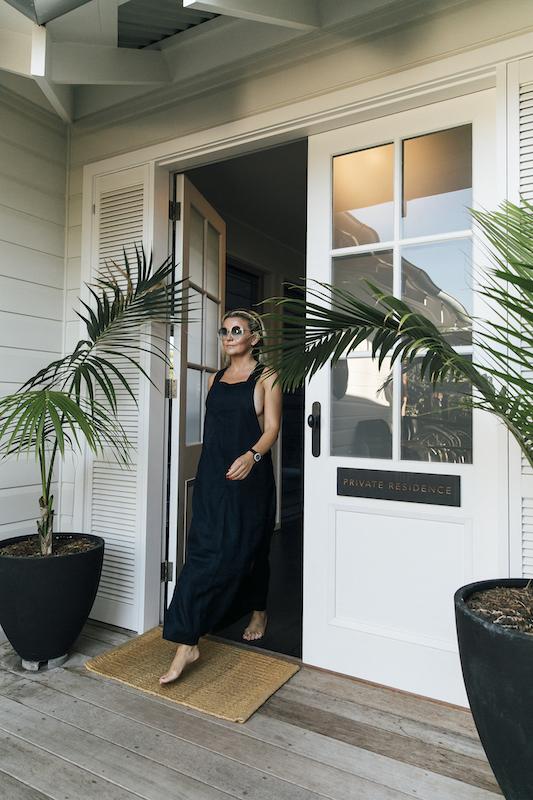 Pra wearing a linen dress by Sahana, a sustainable Byron Bay brand  (photo by Kate Holmes)