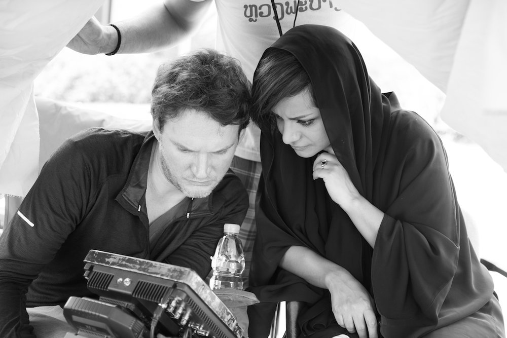 "Working on her short ""The Neighbour""  (photo credit: Charney Magri)"