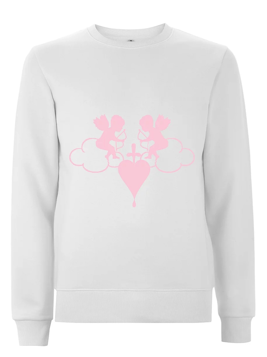 Crown Love - Cherub Pink/White Sweatshirt