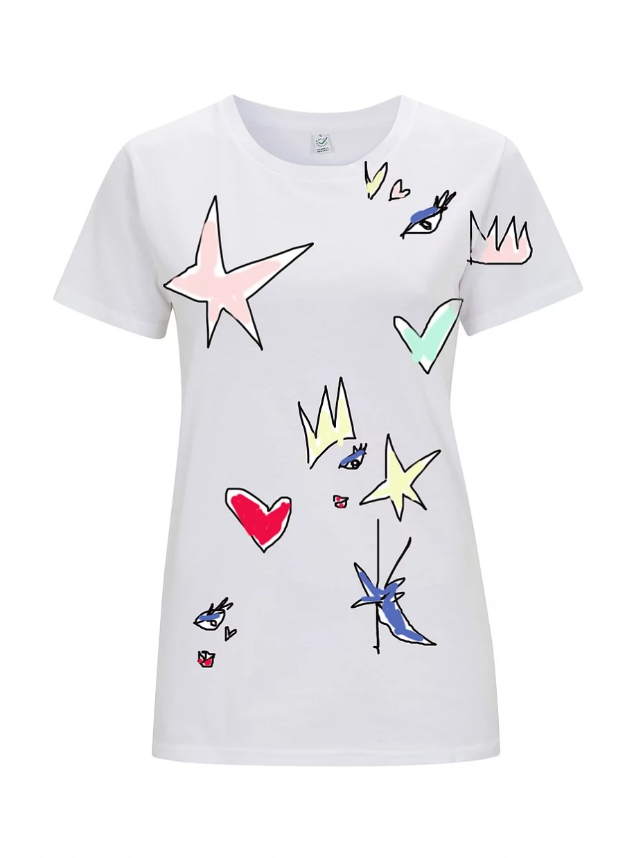 Crown Love - Draw All Over White T-Shirt