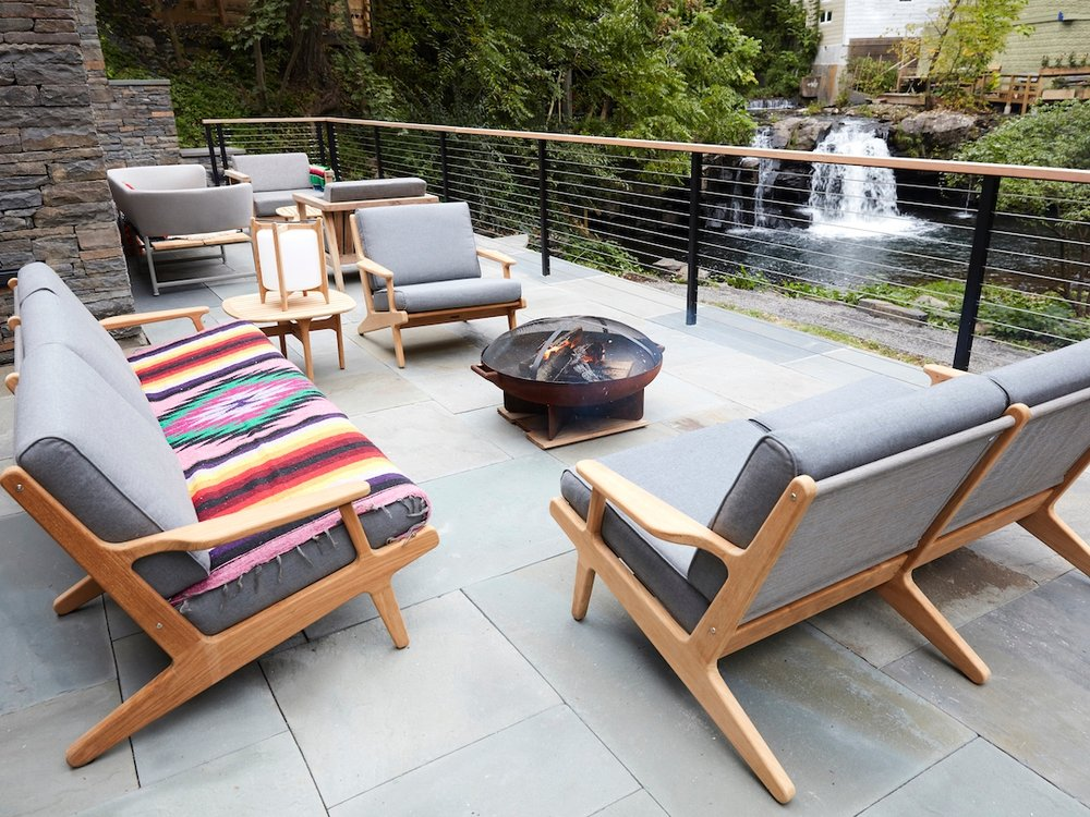 The outdoor patio for hanging out, chit chat, and soaking up the chill Woodstock vibes  (photo supplied)