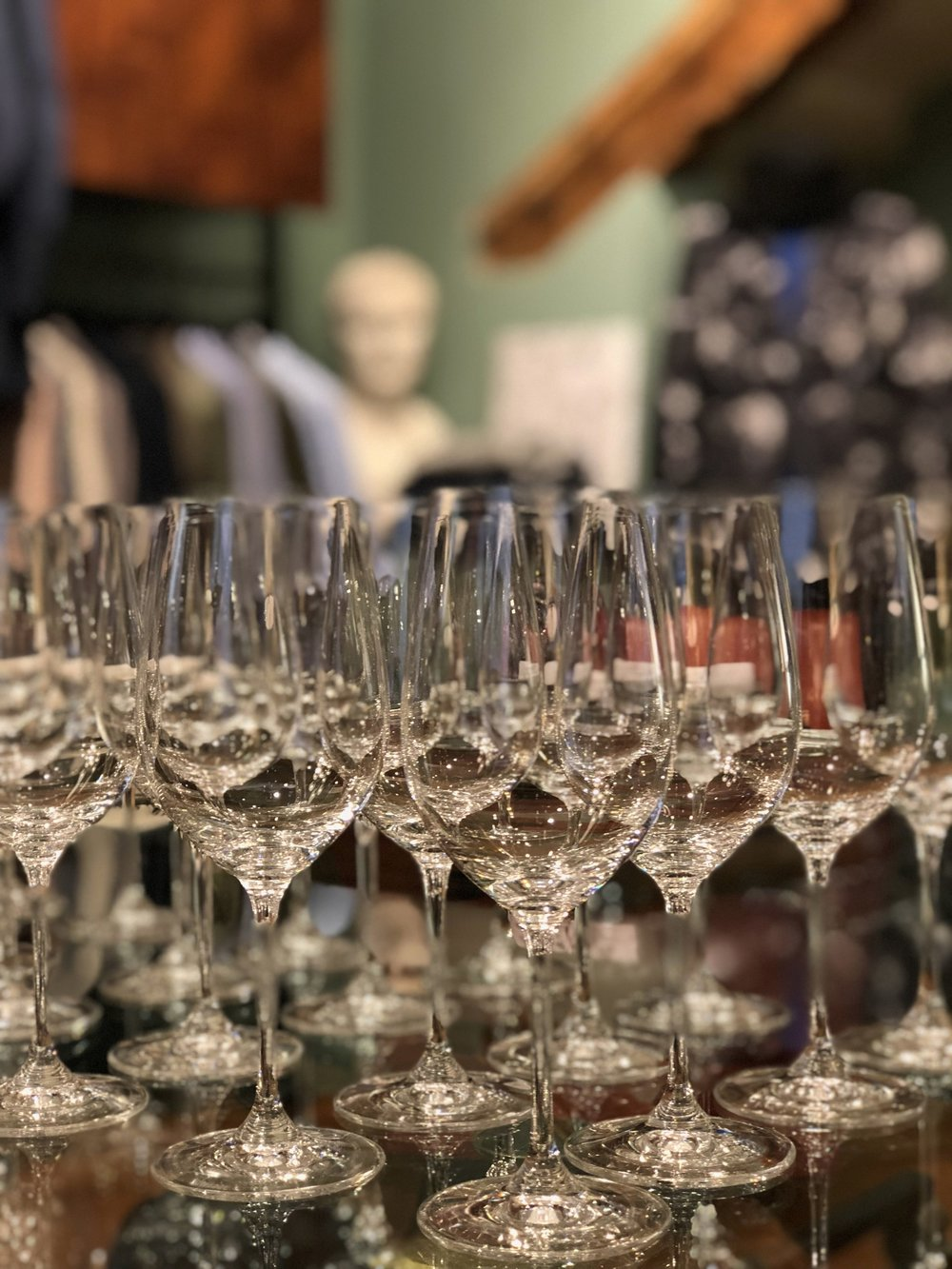 Riedel - official event sponsor of Nine bottles in Verona.